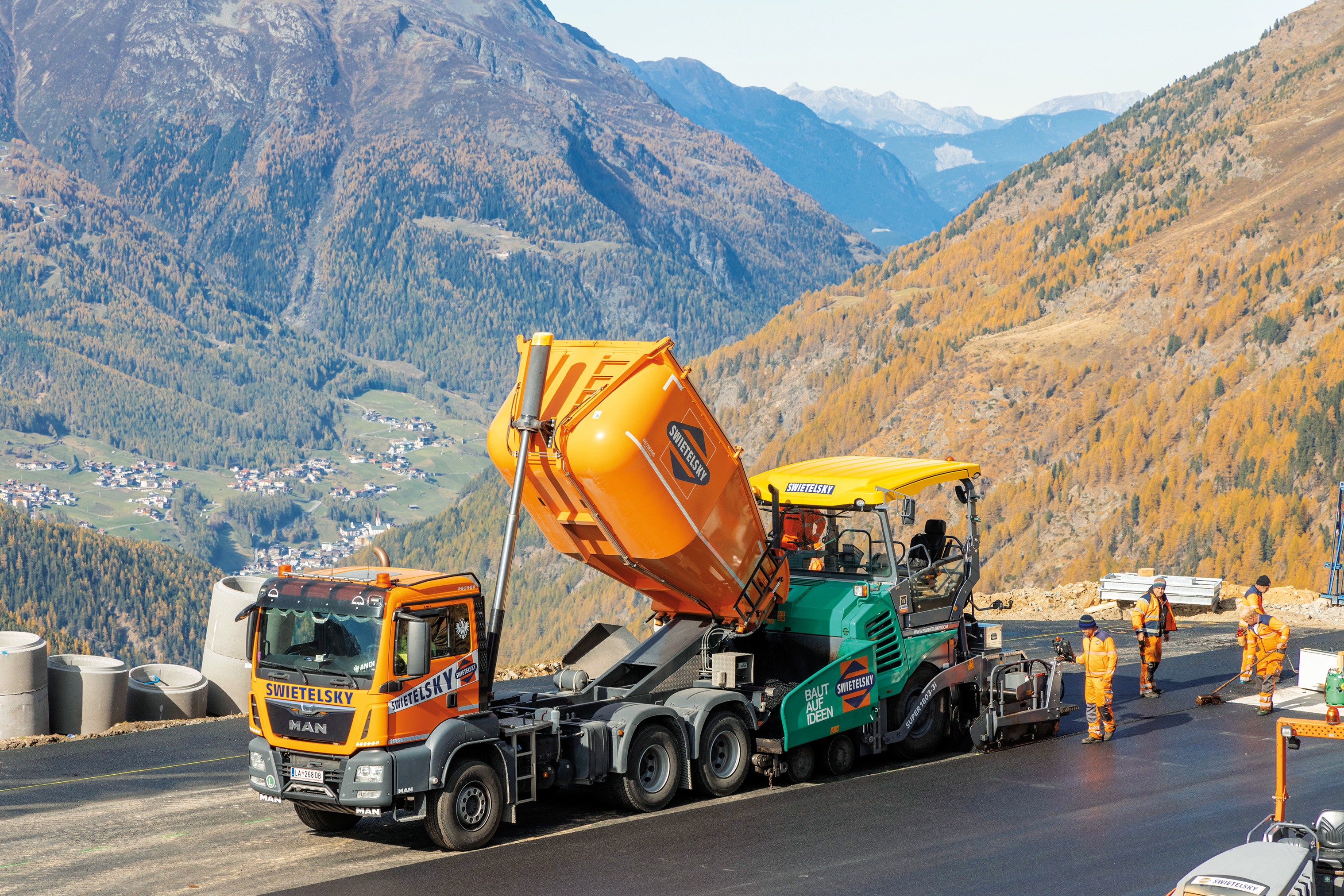 Flugplatz, Heliport Hochgurgl - Road and bridge construction