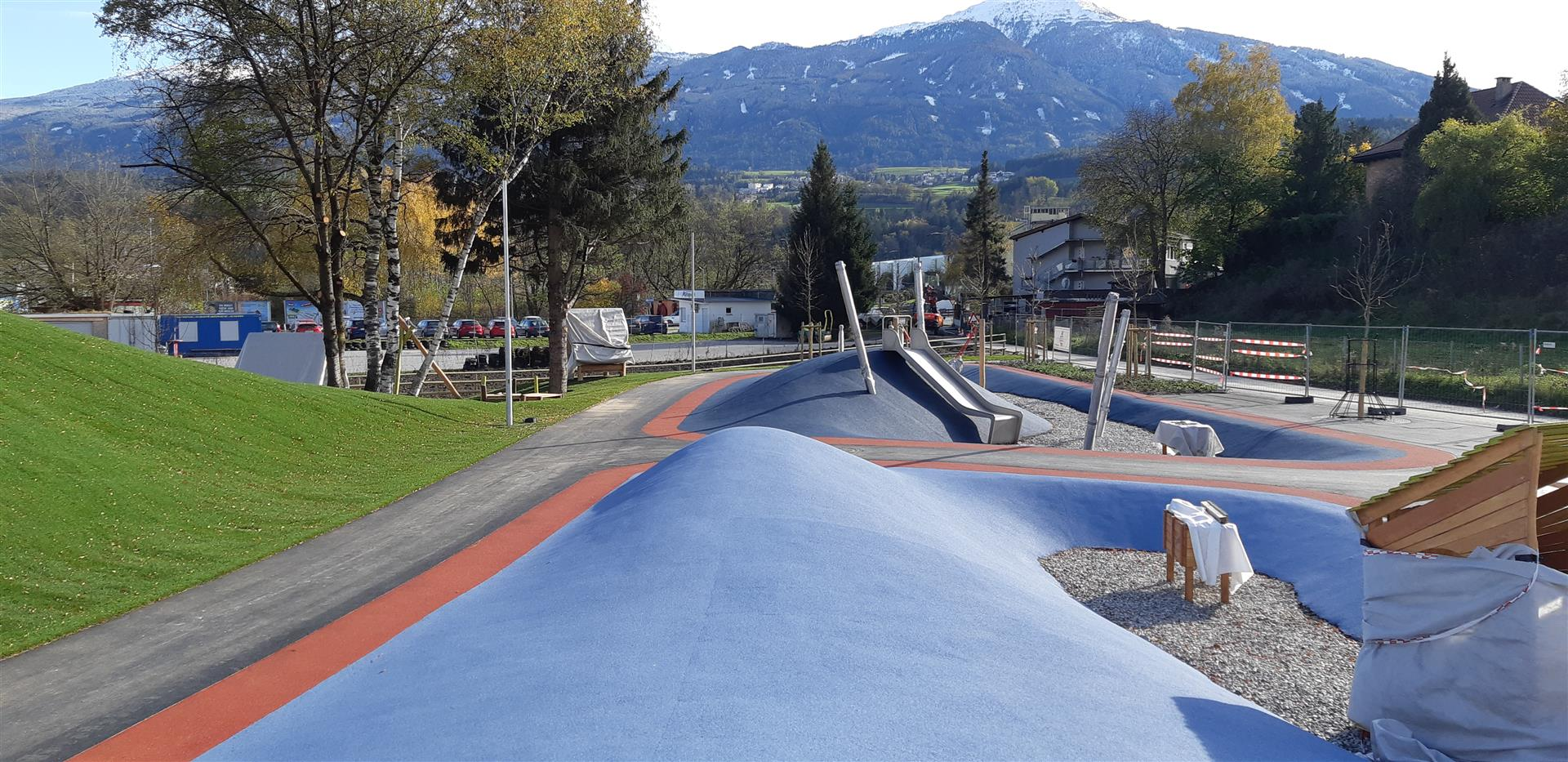 Freizeitpark, Innsbruck - Civil engineering