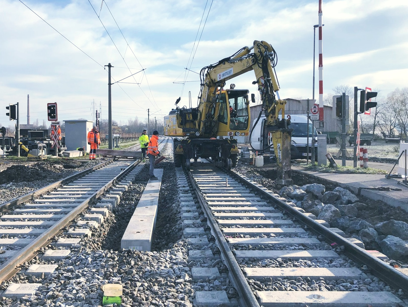 Erneuerung Oberbau - WLB Traiskirchen - Railway construction