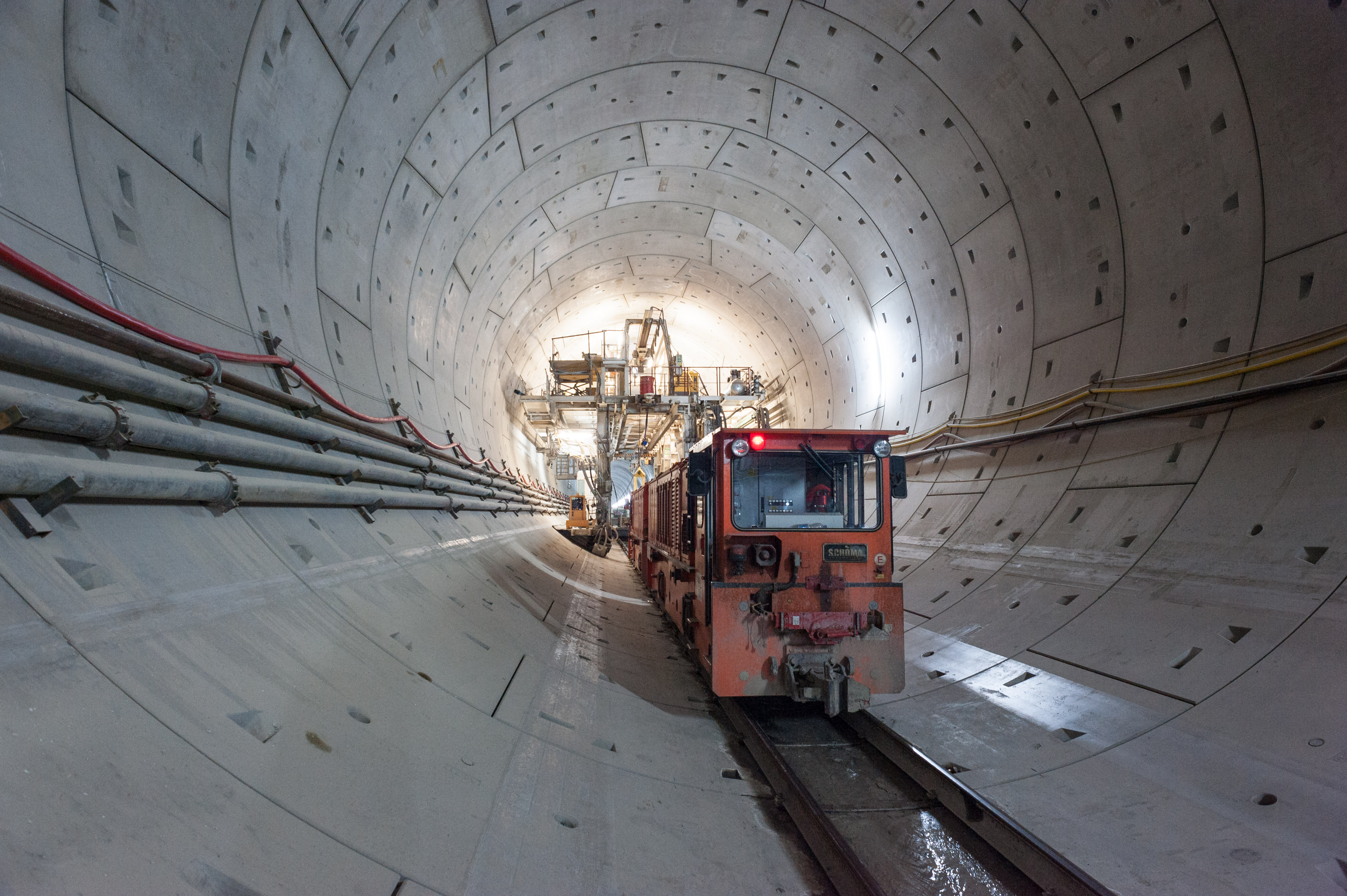 Tunnel Albaufstieg - Tunnel construction